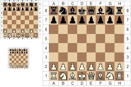 Schach Grundstellung